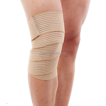 Elastic Bandage Tape Sport Knee Support Strap Knee Pads Protector