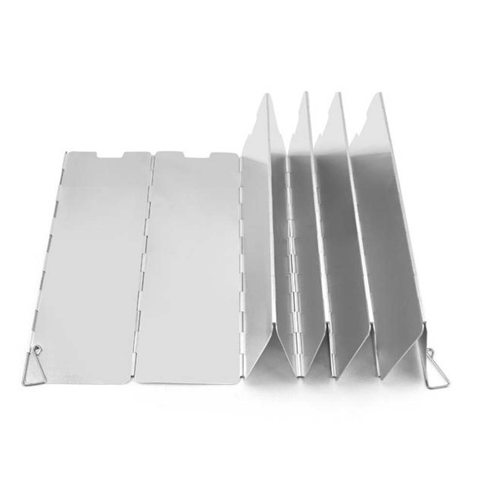 CP Windscreen for Stove, 9 Plates Folding Wind Shield Picnic Cooker Stove Wind Screen Use with Camping, Backpacking, Emergency and Survival Preparation