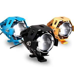 12v aluminium led lamp housing Car lens Light motorcycle headlight U5/W