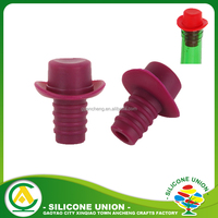 Cap Hat Shaped Beer Saver Reusable Silicone Bottle Caps for Sale