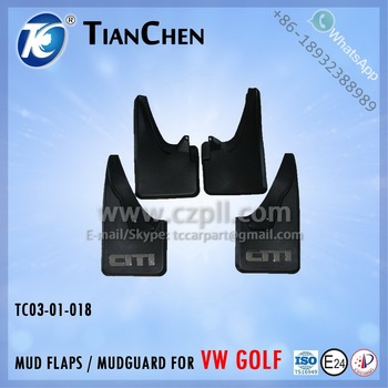 MUDGUARD for GOLF 1 1974 - 1983 ELECTROPLATED / MUD FLAPS FOR GOLF 1 / MUD FLAP FOR VW GOLF