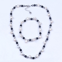 wedding pearl beads jewelry set crystal indian jewelry