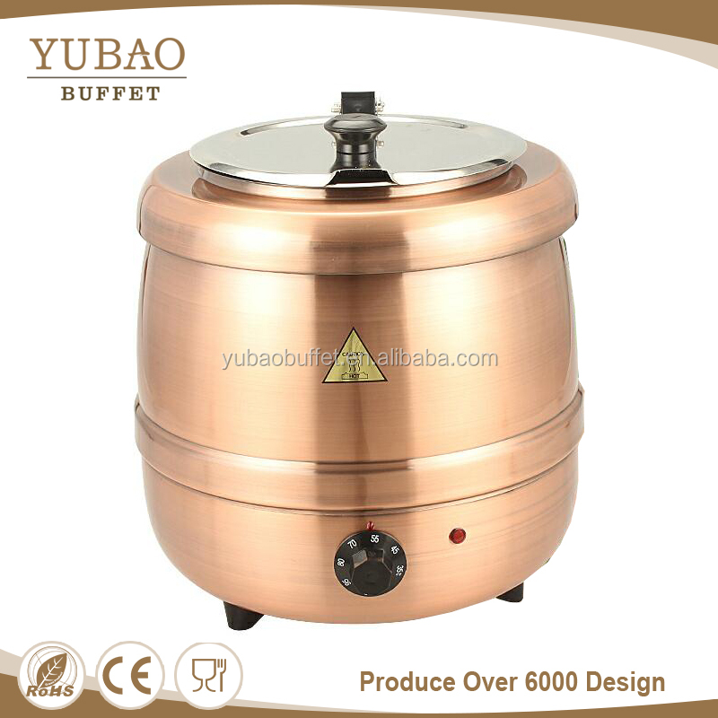 Electric Stainless Steel Soup Warmer/soup Chafing Dish/soup Pot