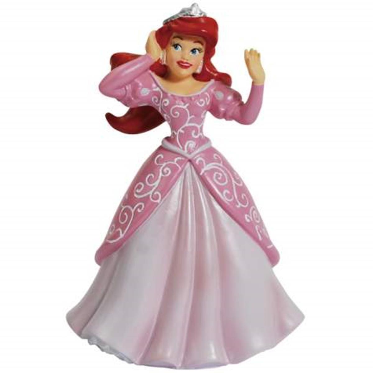 Buy Disney Princess Ariel Figurine in Purple Ball Gown Holding Clam ...