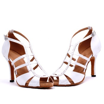 Spot Latin Dance Shoes Women 3 Inch Heel For Women's Suede Heels Sandals Latin With Ankle Strap Dance Shoes