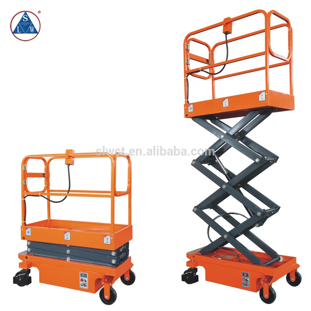 300kg DC Powered Electric Hydraulic Mini Scissor Lift