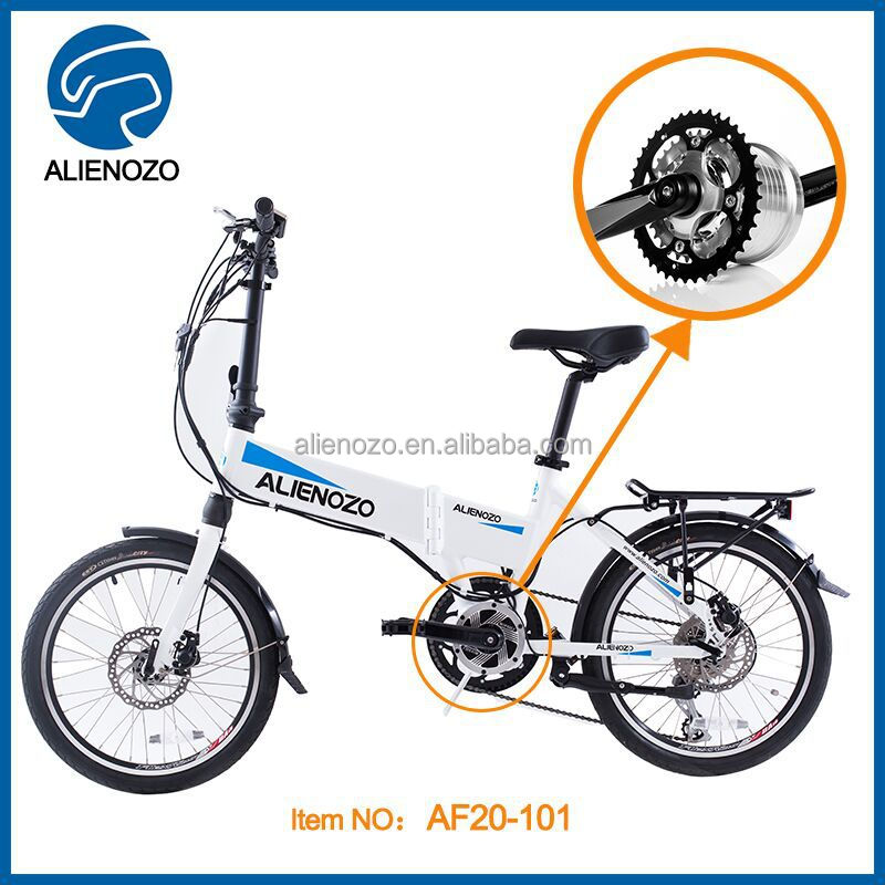 Carbon Frame Electric,20in White Mini Bike Electric Foldable Bicycle ...