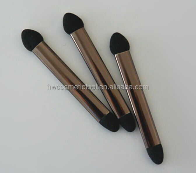 long metal handle sponge tip eyeshadow cosmetic applicator