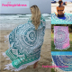 China Factory Cotton 100% microfiber Custom Printed Mandala Circular Beach Towel