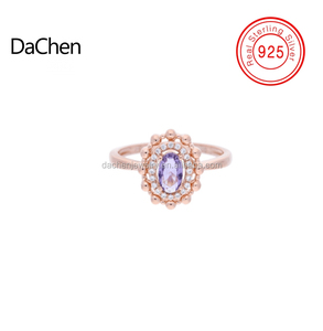 2018 new design fashion jewelry CZ rose gold plating rings 925 silver rings