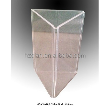Tri Side Clear X Plastic Table Tent Buy Plastic Party Tent - Plastic table tents