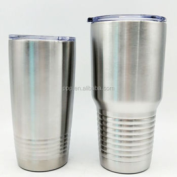 30Oz Double wall customized FDA approved stainless steel rolling Tumbler with non-spilled lid