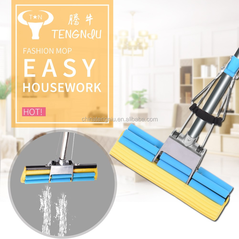 Hot arrival adjustable microfiber ceiling cleaning mop PVA mop