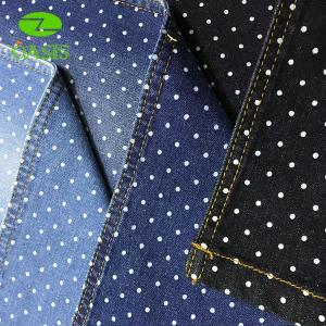 African dot print cotton spandex denim fabric for stock