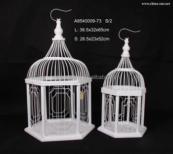 Elegant White Bird Cages For Indoor Or Outdoor Decoration