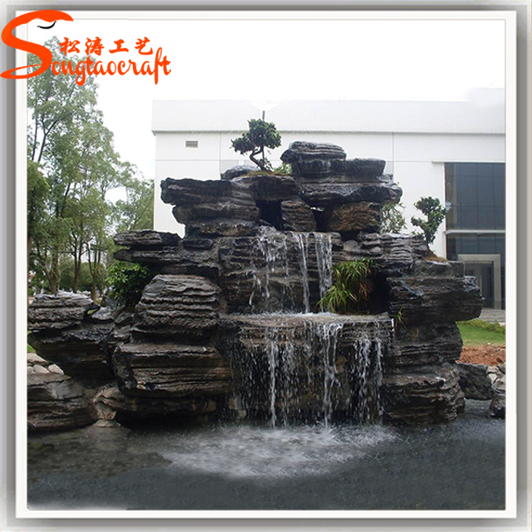 China Water Fountain Factory Indoor Artificial Waterfall Fountain Waterfall  Buddha Fountain