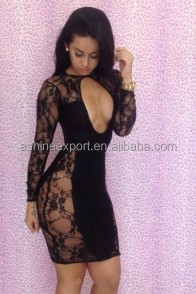 The Model Of African Dress, Sexy Evening Disco Long Sleeve Big Ass ...
