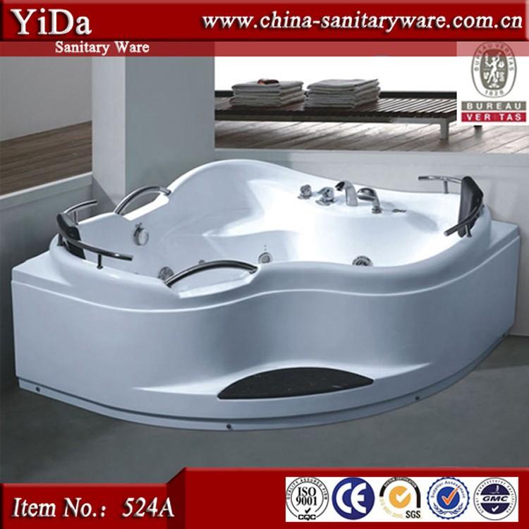 moderne massage 3 personne baignoire grande baignoire d 39 angle taille triangle bain remous. Black Bedroom Furniture Sets. Home Design Ideas