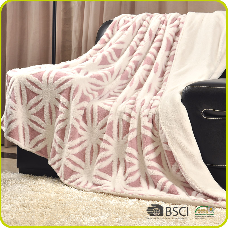Double Size Thick Sherpa Bed Blanket Softextile Plain Double Face Blanket