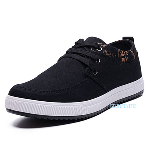New fashion men's casual shoe Korean breathable canvas men's shoes with lace-up