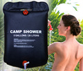 20L 5 Gallons Solar Energy Heated Camp Shower Bag Utility Black PVC Shower Water Bag For