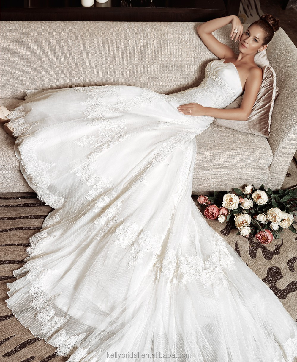 ZM16030 Detachable Big Long Train Gown Vintage Sweetheart White Wedding Dress 2016 Beach Bridal