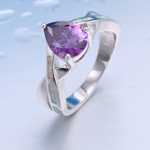 unique jewelry gift fantasy hand made jewelry purple heart ring