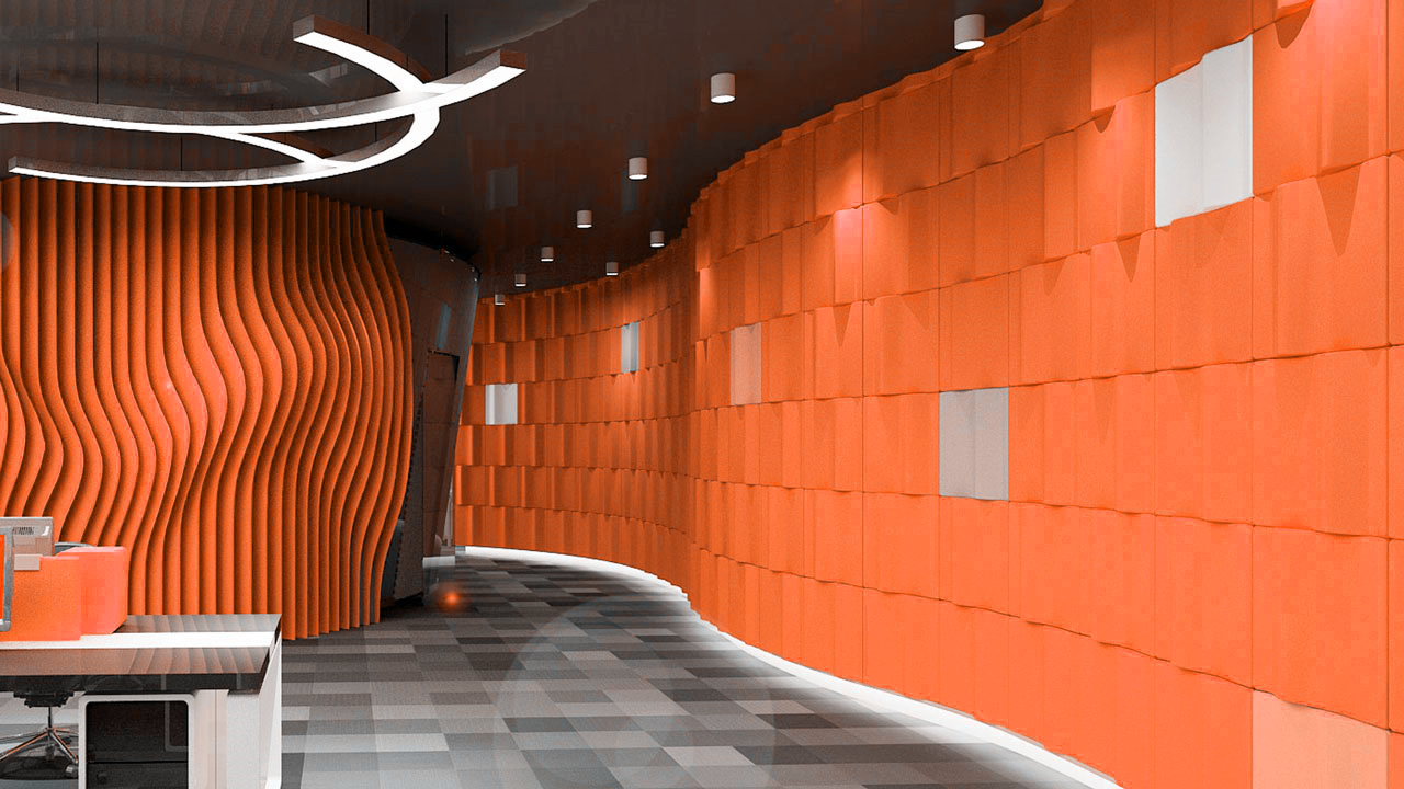 8mm Thickness Polyester Acoustic Panels Panel Materials