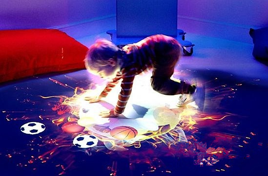 Hot sale Interactive floor projector with 1024*768 resolution for Children game