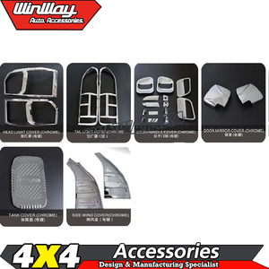 Cheap price high Quality Full Chromed sets for Hiace 2005+ Pickup accessories