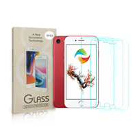 Anti Shock Screen Protector 9H Tempered Glass For iPhone 8 3 Pack