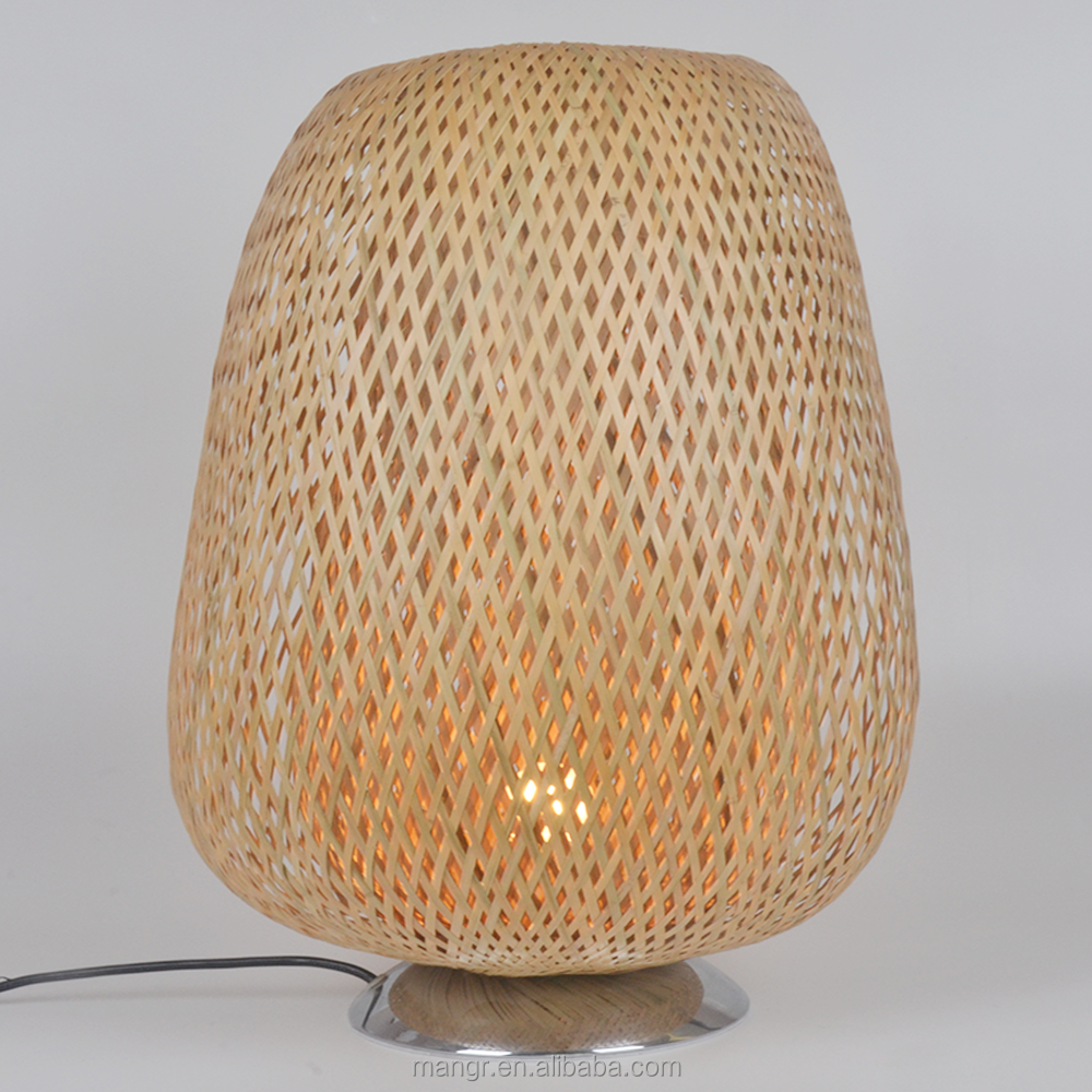 Table-Light-MG-4204 New style bamboo weaving desk lighting reading room table Lamps
