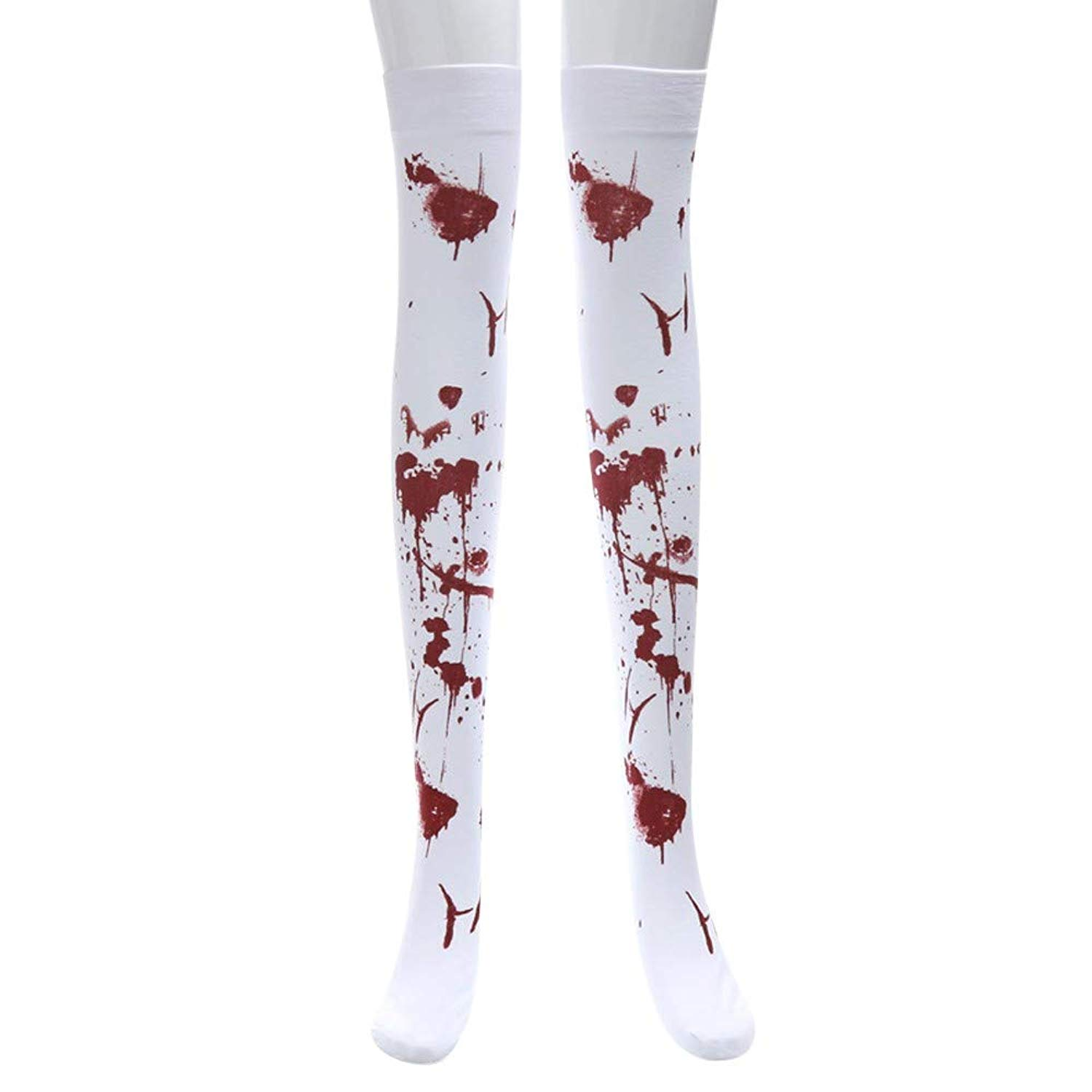 899b784ac71 Get Quotations · huaanxiaofangshebei Knee High Socks Halloween Print Long  Tube Knee Socks Fancy Dress Party Funny Dress Up
