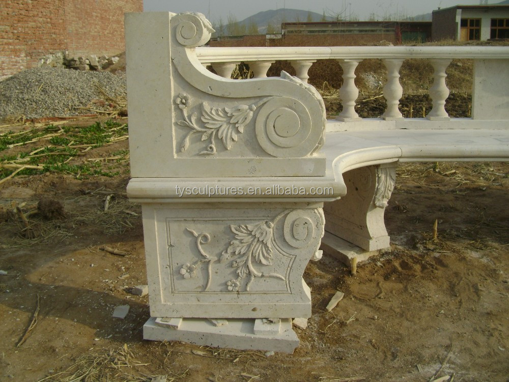 how to clean marble outdoor bench