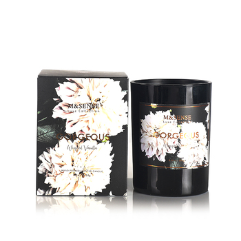 M&sense Gorgeous Collection Custom Scented Black Soy Blank ...