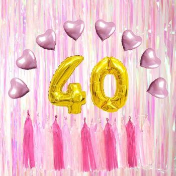 Best Selling 40th Birthday Theme Party Decorations Gold Balloons Happy