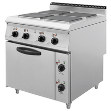 900 Serial Komersial Stainless Steel 4 Square Hot Plate Kompor dengan Oven Memasak EquipmentBN900-E803B