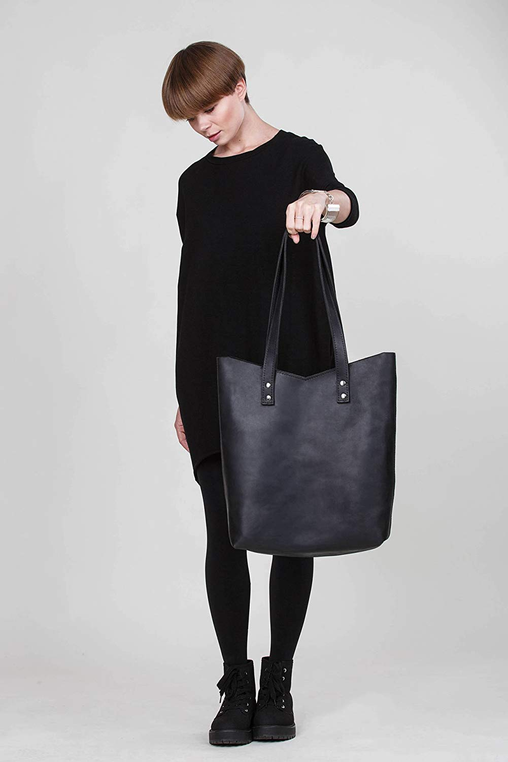 d67c5773a1f9 Cheap Black Tote Bag Leather