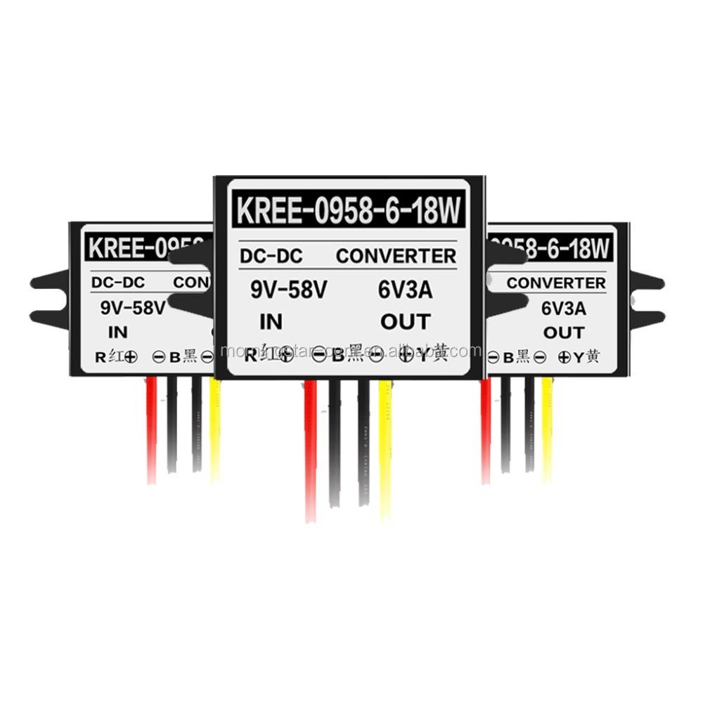 9 58v 9v 11v 10v 12v 24v 36v 21v 48v To 6v 3a 18w Dc Converter Circuit For Led Light Buy Buck Step Down Transformer Aute Mobile Cell