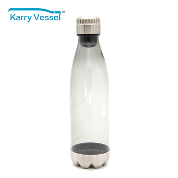 Cheap promotional cola shaped heat resistant custom printed plastic water bottle manufacturer
