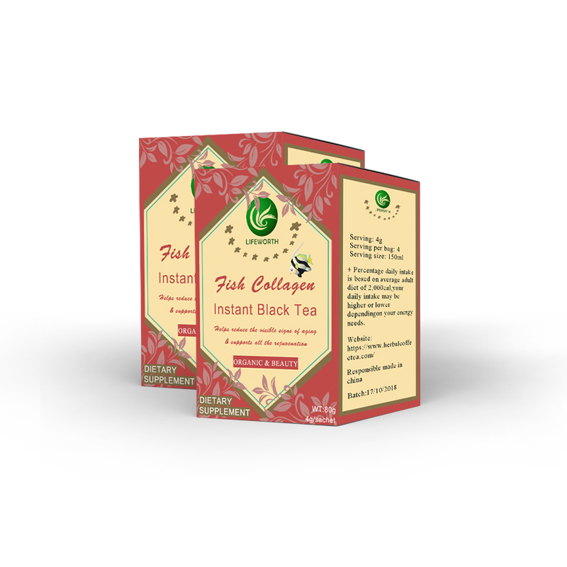 Lifeworth 100% halal fish collagen black tea - 4uTea   4uTea.com