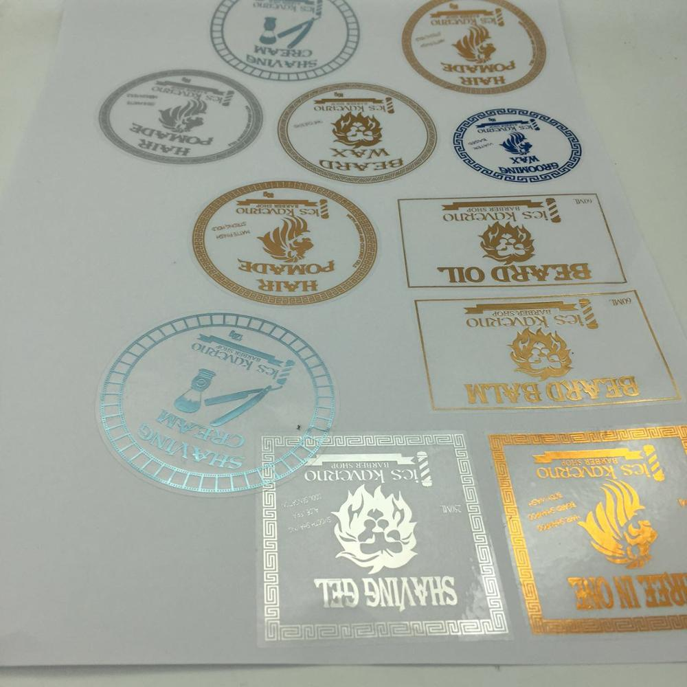 Customized Transparent Round Transparent Sticker With Gold Foil Stamping