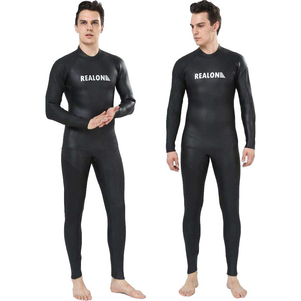 2bdf9cbec8 Get Quotations · Realon Wetsuit 3mm Open Water Triathlon Wetsuits Men  Smooth Skin Trisuit Ironman Wear Surfing Suit Jumpsuit