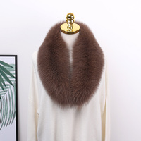 Factory wholesale detachable natural fox fur and raccoon fur big collar custom fur collars for jacket coat