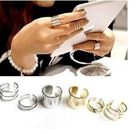 New fashion jewelry alloy round finger ring set 1set 3pcs gift for women ladies girl R1158