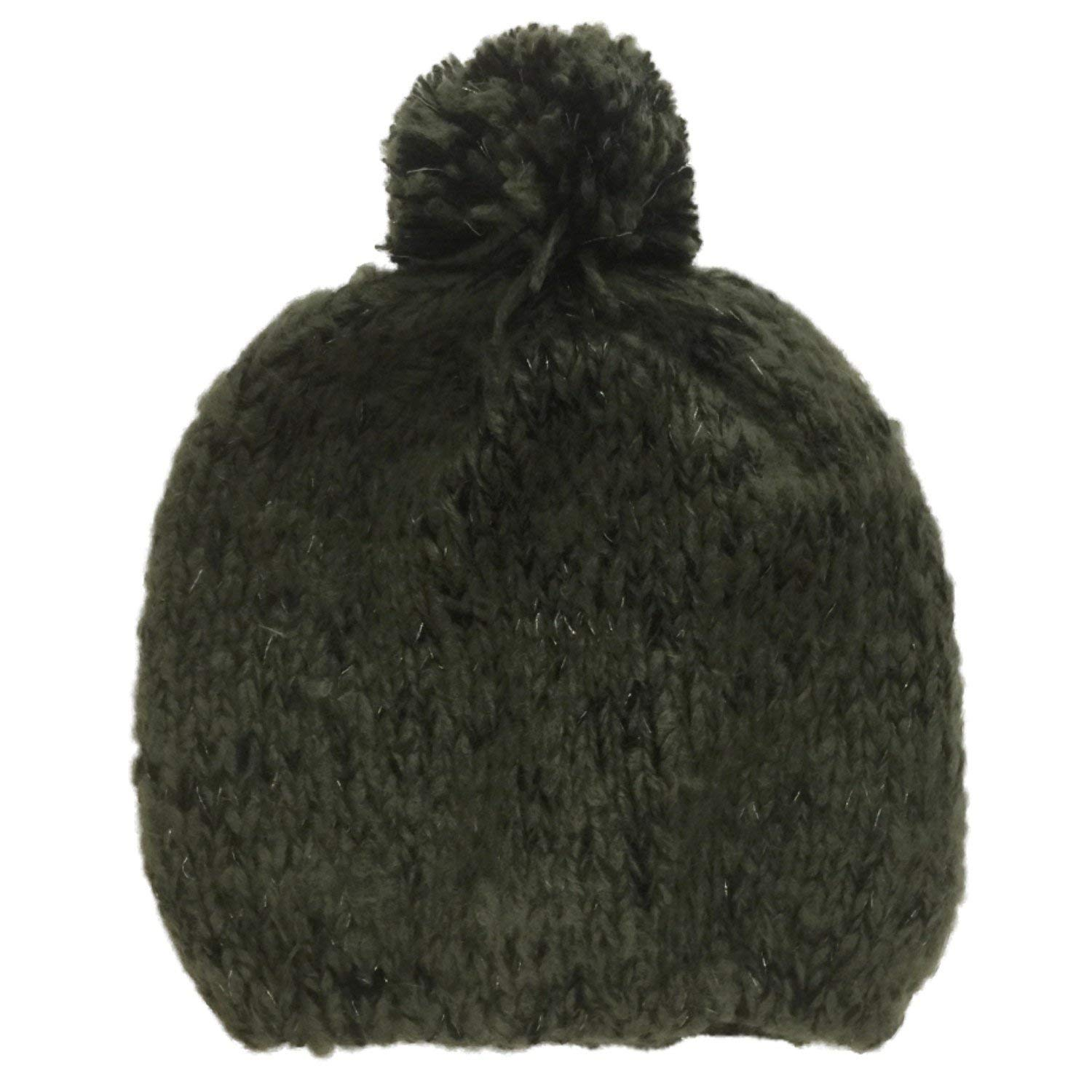 ea21e179535 Get Quotations · Sonoma Womens Green And Black Knit Beanie Stocking Cap Hat