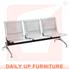 Seating Bench without Arm Steel Hospital Waiting Chair Public 3-seater Airport Line Chair for Sale