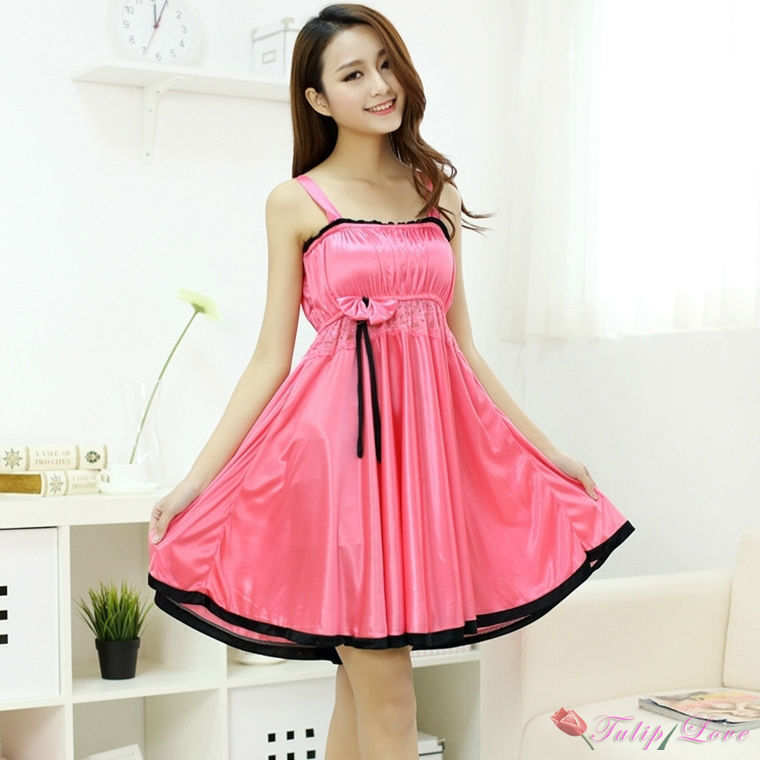 8002ff47fc Get Quotations · 2015 new Peach Womens Suspenders Dress pajamas nightgown  lingerie ladies lace dress night gowns sleeping wear