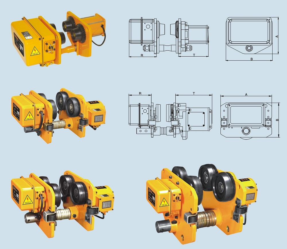 Manufacturer Electric Motor Trolley for Electric Hoist