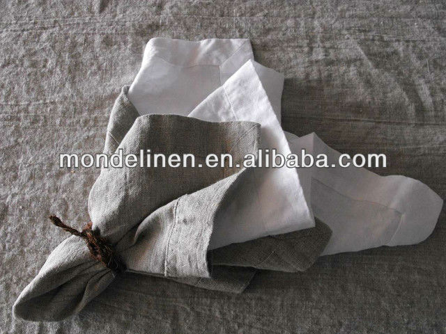 nature grey linen table napkin